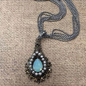 Pacific Opal Multi-Chain Pendant Necklace, NWT